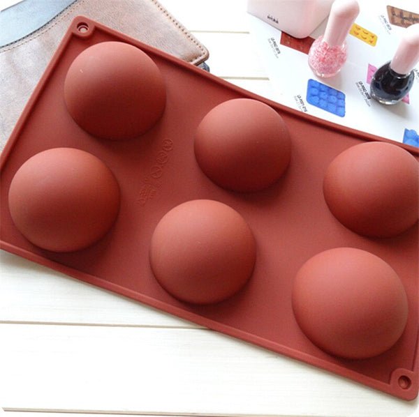 6kong - 3size Hemispheres Shape Silicone Mold for Chocolate Candy Ice Cube Maker Molds for Baking Biscuit Cake Tools Candy Mold