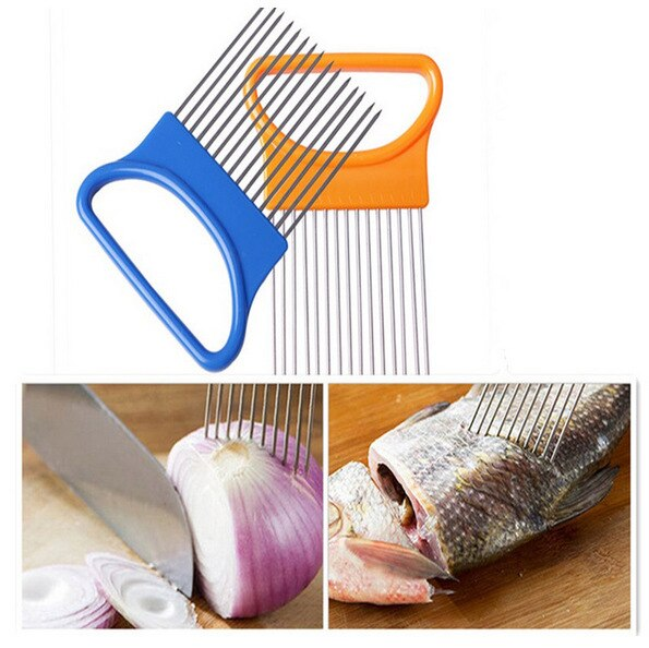 [variant_title] - Hot-Selling Creative kitchen tool vegetable fruit beef onion slicer cutting holder slicing cutter stainless steel meat needle