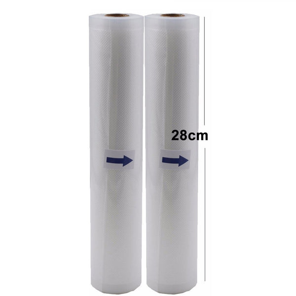 28cm2pcs - 5 Rolls/Lot Kitchen Food Vacuum Bag Storage Bags For Vacuum Sealer Vacuum Packaging Rolls 12/15/20/25/28cm*500cm