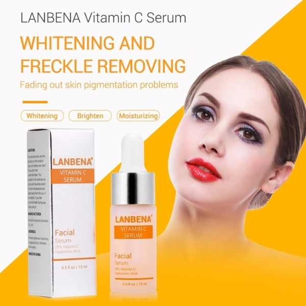 [variant_title] - 15ml Vitamin C Serum Whitening Serum Hyaluronic Acid Face Cream Remover Freckle Spots Anti-aging Skin Care Essence TSLM2