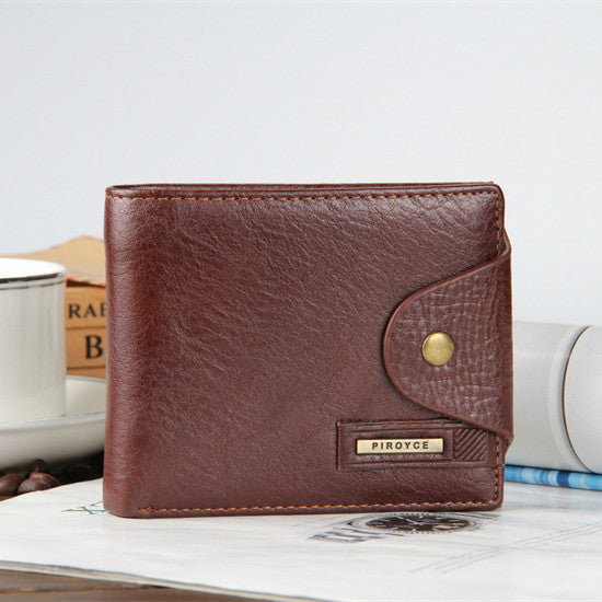 Horizontal coffee - 2018 New brand high quality short men's wallet ,Genuine leather qualitty guarantee purse for male,coin purse, free shipping