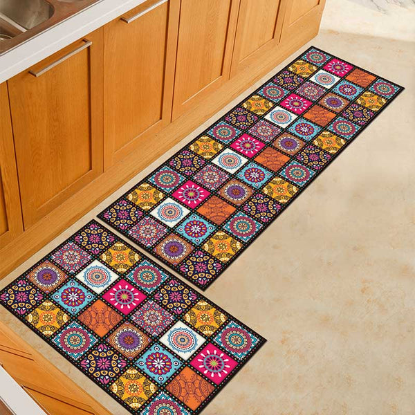 23 / 50x160cm - Kitchen Mat Cheaper Anti-slip Modern Area Rugs Living Room Balcony Bathroom Printed Carpet Doormat Hallway Geometric Bath Mat