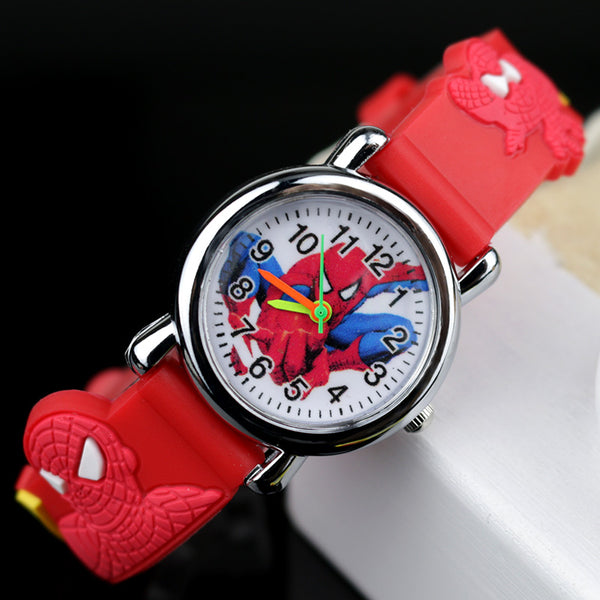 Red no Flash light - 2019 Spiderman Children Watches Cartoon Electronic Colorful Light Source Child Watch Boys Birthday Party Kids Gift Clock Wrist