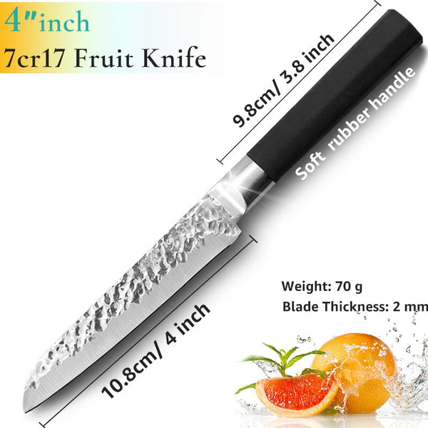 [variant_title] - Kitchen Knife 8 inch Professional Japanese Chef Knives 7CR17 440C High Carbon Stainless Steel Meat Santoku Knife Dropshipping