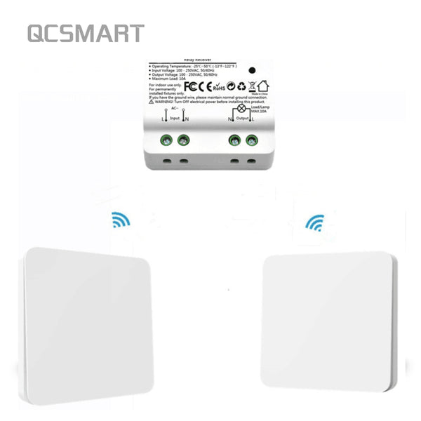 [variant_title] - Wireless Light Switch Wall Switch Remote Control Light Lamps up to 30m, No Battery, No Wire Needed Can Put the Switch Anywhere