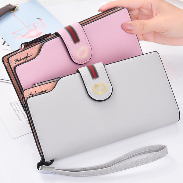 [variant_title] - PU Leather Women's Wallet Female wallet card Holder purse for women portefeuille cartera mujer femme carteira feminina
