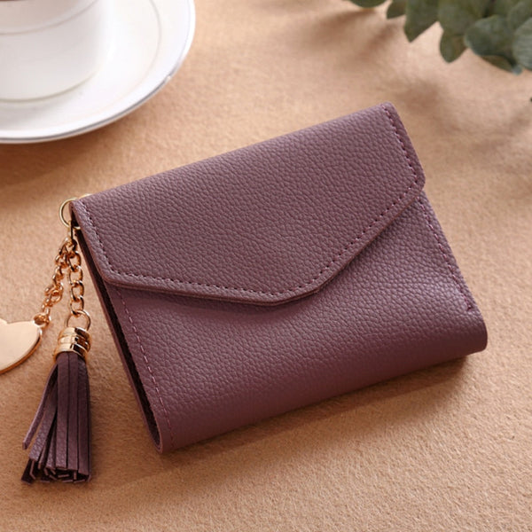230ShortWallet-7 - Long Wallet Women Purses Tassel Fashion Coin Purse Card Holder Wallets Female High Quality Clutch Money Bag PU Leather Wallet