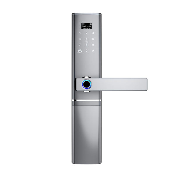 Silver - Fingerprint Door lock, Waterproof Electronic Door Lock Intelligent Biometric Door Lock Smart Fingerprint Lock