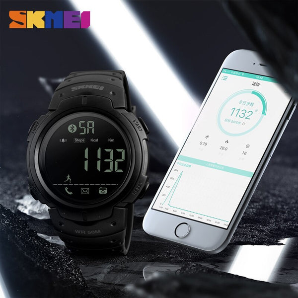 [variant_title] - SKMEI Fashion Smart Watch Men Calorie Alarm Clock Bluetooth Watches 5Bar Waterproof Smart Digital Watch Relogio Masculino 1301
