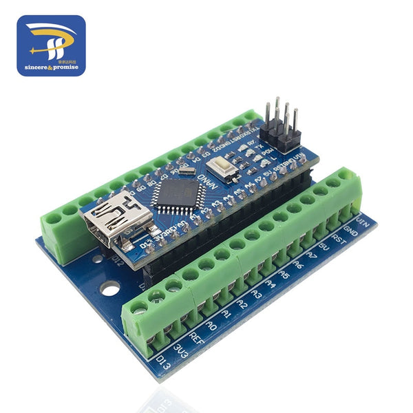 Welding NANO - NANO V3.0 3.0 Controller Terminal Adapter Expansion Board NANO IO Shield Simple Extension Plate For Arduino AVR ATMEGA328P