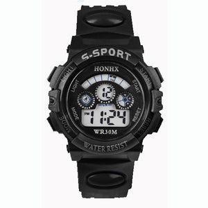 BK - 2017 Waterproof Children Boy Digital LED Quartz Alarm Date Sports Wrist Watch dropshipping