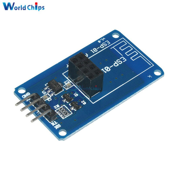 [variant_title] - ESP8266 ESP-01 ESP01 ESP-01S Serial WiFi Wireless Adapter Module 3.3V 5V Serial Board For Arduino UNO R3 Microcontroller One