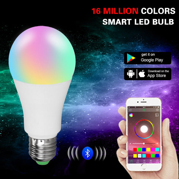 [variant_title] - Smart RGBW Bluetooth 4.0 LED Light E27/B22 15/20W Multiple Colors LED Bulb APP Smart Voice Music Control Lighting Lamp for Home
