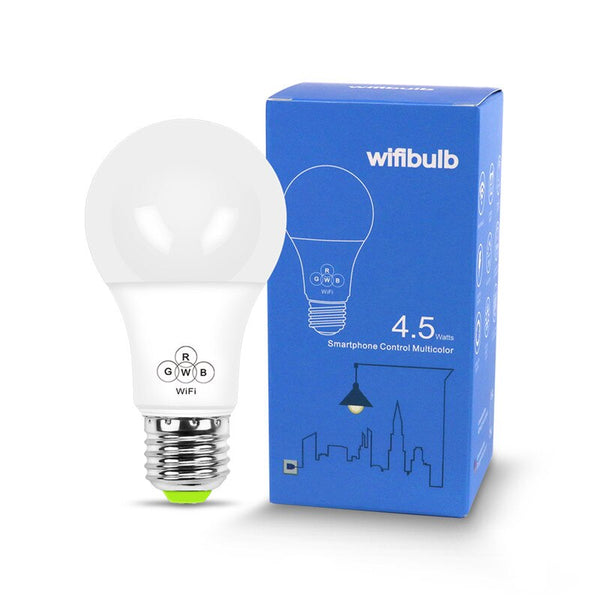 Wifi Bulb - 2018 Magic Blue 4.5W E27 RGBW led light WIFI bulb smart lighting Bluetooth lamp color change dimmable AC85-265V for home hotel