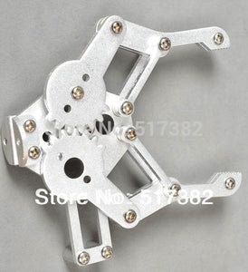 [variant_title] - Freeship 1set 2 DOF Aluminium Robot Arm Clamp Claw Mount kit (No servo) Un-assembly Fit for Arduino