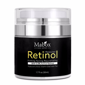 Default Title - Mabox 50ml Retinol 2.5%Moisturizer Face Cream Hyaluronic Acid AntiAging Remove Wrinkle Vitamin E Collagen Smooth Whitening Cream
