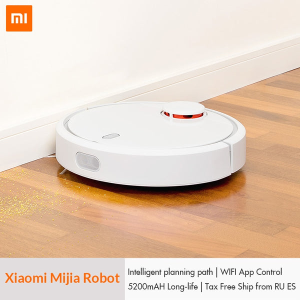 [variant_title] - Original XIAOMI Mijia Mi Robot Vacuum Cleaner for Home Automatic Sweeping Dust Sterilize Smart Planned Mobile App Remote Control