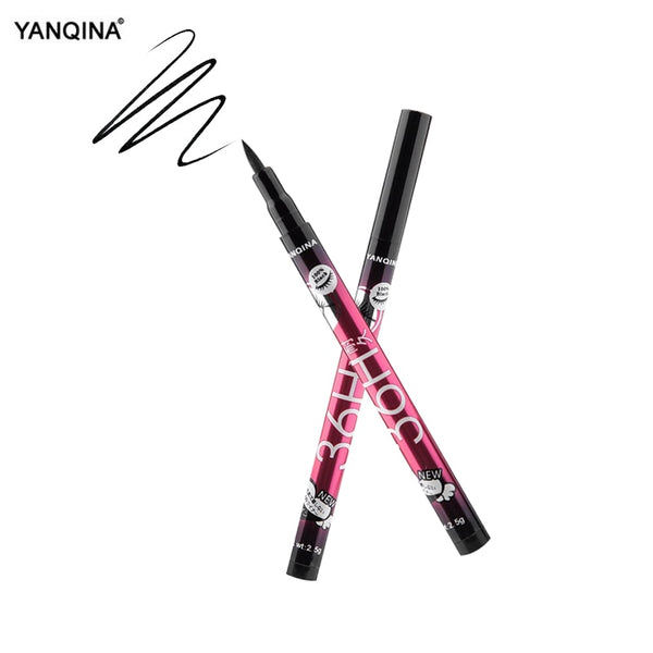 [variant_title] - YANQINA Lasting 36H Liquid Eyeliner Pencil Waterproof Black Makeup Long-lasting Easywear Eye Liner Pen Cosmetic Lady Beauty Tool