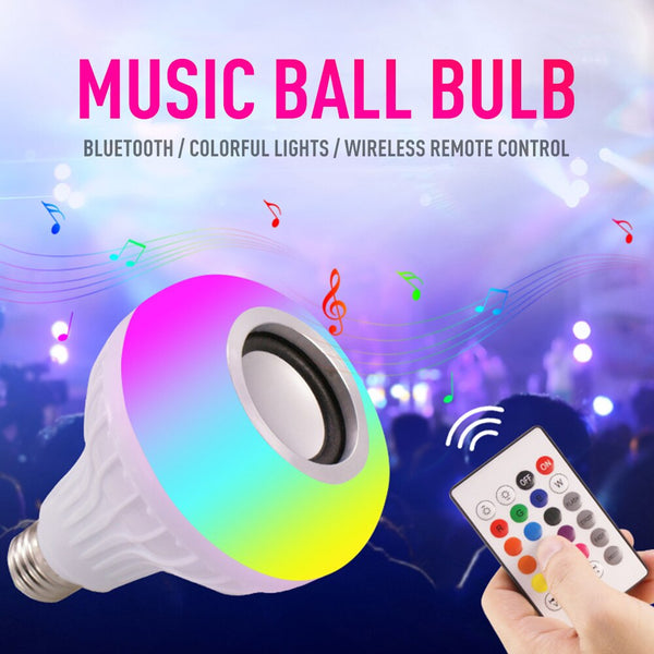 Default Title - RGB Remote Control Bluetooth Music Light Bulb Led Smart Light Bulb Wifi Colorful Music Light Bulb Stage Light Smart Home