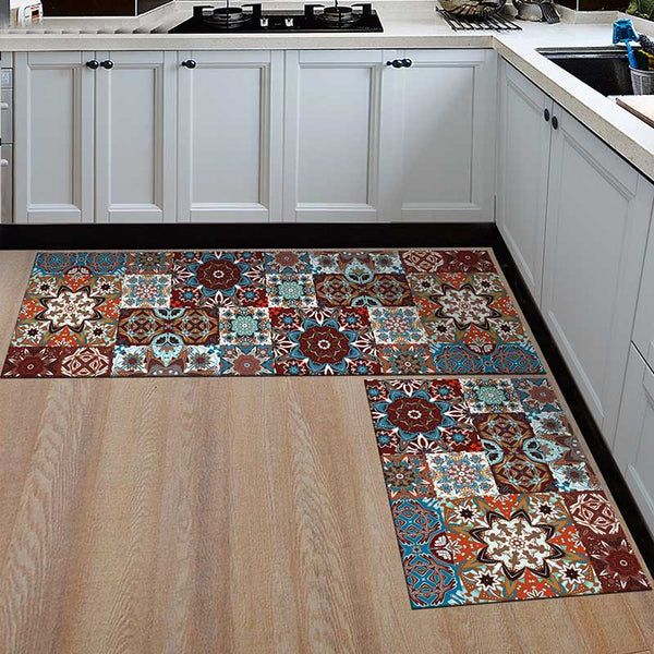 22 / 50x160cm - Kitchen Mat Cheaper Anti-slip Modern Area Rugs Living Room Balcony Bathroom Printed Carpet Doormat Hallway Geometric Bath Mat