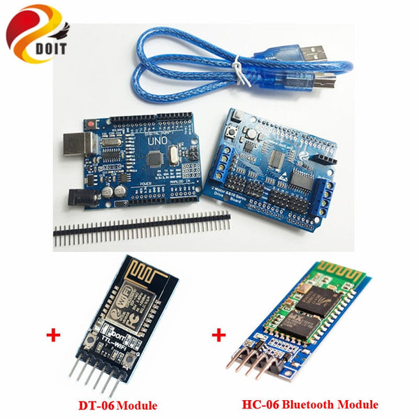 [variant_title] - DOIT WiFi/Blutooth Robotic Controller Kit Servo Motor Driver Board DT-06 Serial WiFi HC-06 Bluetooth Module for Arduino
