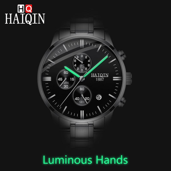 [variant_title] - HAIQIN Men's watches Fashion Mens watches top brand luxury/Sport/military/Gold/quartz/wrist watch men clock relogio masculino