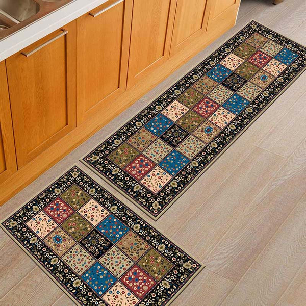 [variant_title] - Kitchen Mat Cheaper Anti-slip Modern Area Rugs Living Room Balcony Bathroom Printed Carpet Doormat Hallway Geometric Bath Mat