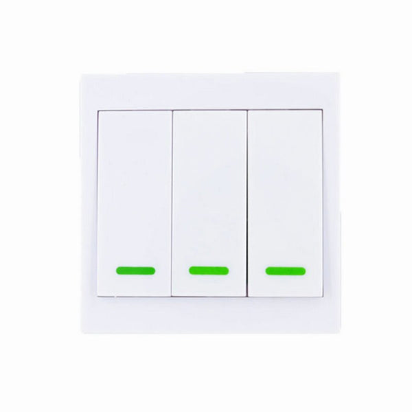 3CH / 315 MHz - 86 Wall Panel Wireless Remote Transmitter 1 2 3 Channel Sticky RF TX Smart For Home Living Room Bedroom 315 / 433 MHz