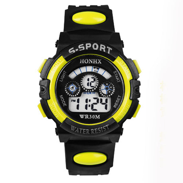 yl - 2017 Waterproof Children Boy Digital LED Quartz Alarm Date Sports Wrist Watch dropshipping