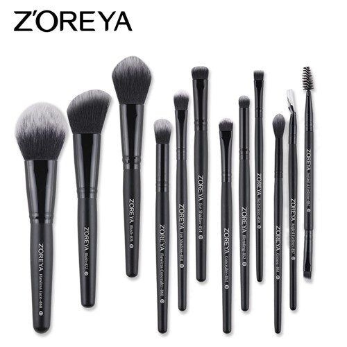 12pcs brush set - ZOREYA Makeup Brushes 4/8/10/11/12/15pcs Professional Makeup Brush Set Many Different Model As Essential Cosmetics Tool