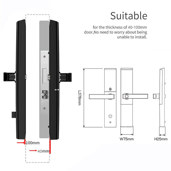 [variant_title] - Smart Fingerprint Door Lock  Security  Intelligent Lock  Biometric Electronic Wifi Door Lock With Bluetooth APP Unlock