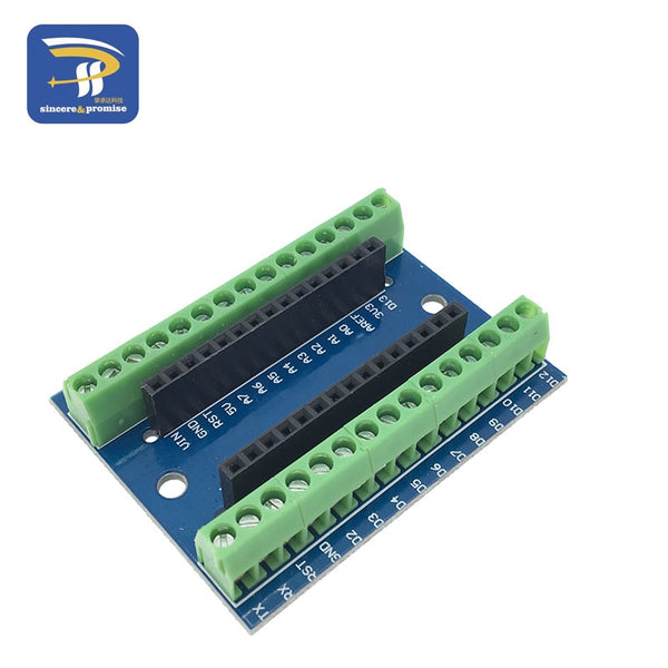 Expansion Board - NANO V3.0 3.0 Controller Terminal Adapter Expansion Board NANO IO Shield Simple Extension Plate For Arduino AVR ATMEGA328P