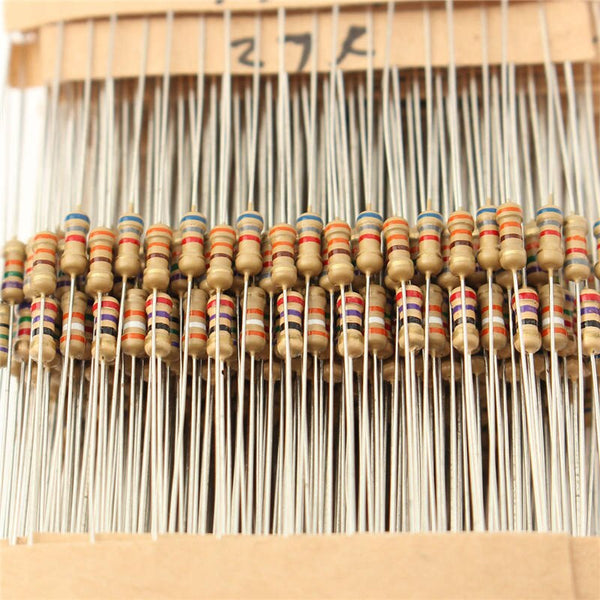 [variant_title] - Hot Sale 560pcs 56 Values 1% Tolerance Metal Film Resistors Assorted Kit 1/4W  Power Resistor Set 1 ohm ~ 10M ohm Resistance