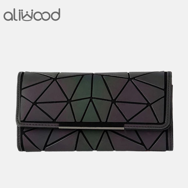 [variant_title] - Aliwood 2018 Hot Brand Bao Wallet Women Clutch Ladies Cards bag Fashion Geometric Female bags Noctilucent luminous Long Purse