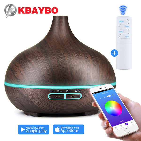 [variant_title] - 550ml Air Humidifier Essential Oil Diffuser Aroma Lamp Aromatherapy Electric Aroma Diffuser Mist Maker Smart APP Remote Control