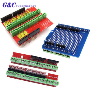 [variant_title] - Proto Screw Shield V2/V3 Assembled prototype terminal expansion board for Arduino UNO R3