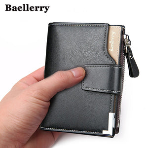 [variant_title] - Baellerry brand Wallet men leather men wallets purse short male clutch leather wallet mens money bag quality guarantee