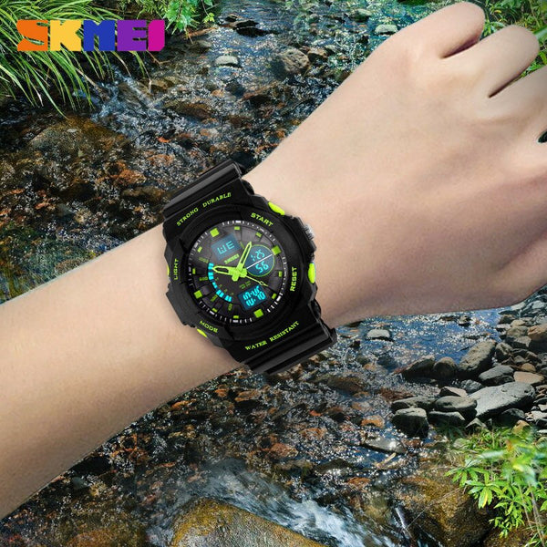 [variant_title] - SKMEI Shock Resistant Watches Waterproof Men Women Kids Outdoor Sport Timing Watch Multifunction Children Fashion Wristwatches