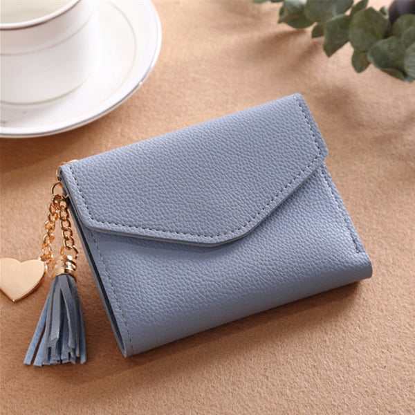230ShortWallet-4 - Long Wallet Women Purses Tassel Fashion Coin Purse Card Holder Wallets Female High Quality Clutch Money Bag PU Leather Wallet