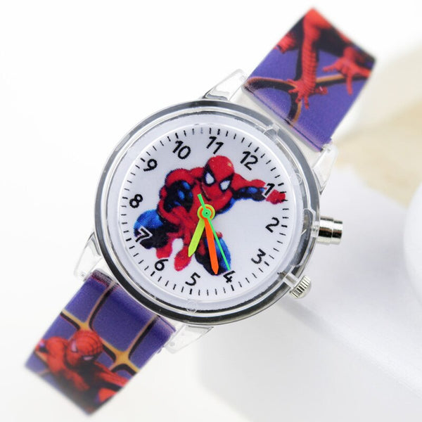 Boy Deep Blue  Flash - Princess Elsa Children Watches Spiderman Colorful Light Source Boys Watch Girls Kids Party Gift Clock Wrist Relogio Feminino