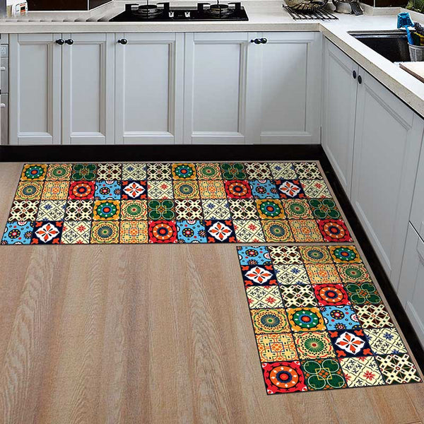 15 / 50x160cm - Kitchen Mat Cheaper Anti-slip Modern Area Rugs Living Room Balcony Bathroom Printed Carpet Doormat Hallway Geometric Bath Mat