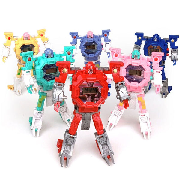 [variant_title] - Waterproof Robot Children Watch Toys for Children Birthday Christmas Gift Boys Watches