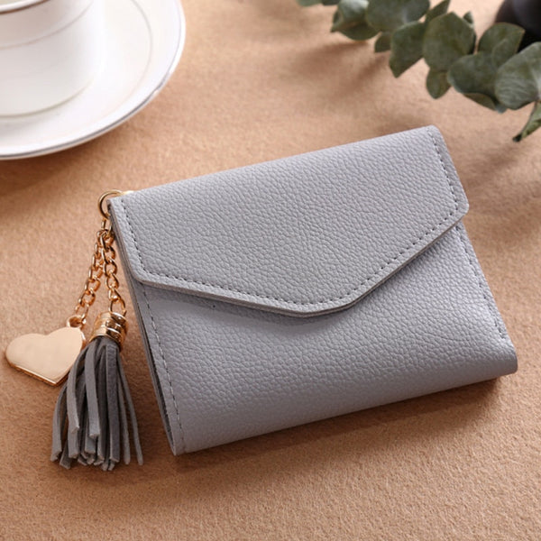 230ShortWallet-5 - Long Wallet Women Purses Tassel Fashion Coin Purse Card Holder Wallets Female High Quality Clutch Money Bag PU Leather Wallet