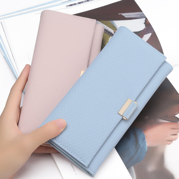 [variant_title] - Woman Wallet Clutch Plaid Wallet Zipper Female Ladies Hot Change Women Luxury Credit Phone Card Holder Coin Purses For Girls