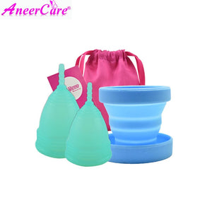 [variant_title] - 2pcs female menstrual cup sterilizer female hygienic vaginal period cup menstruation silicone reusable menstruation collector