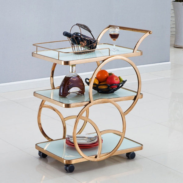"[variant_title] - Kitchen Trolley Cart / 80cm(31"") Handle High / Food Bar Cart"