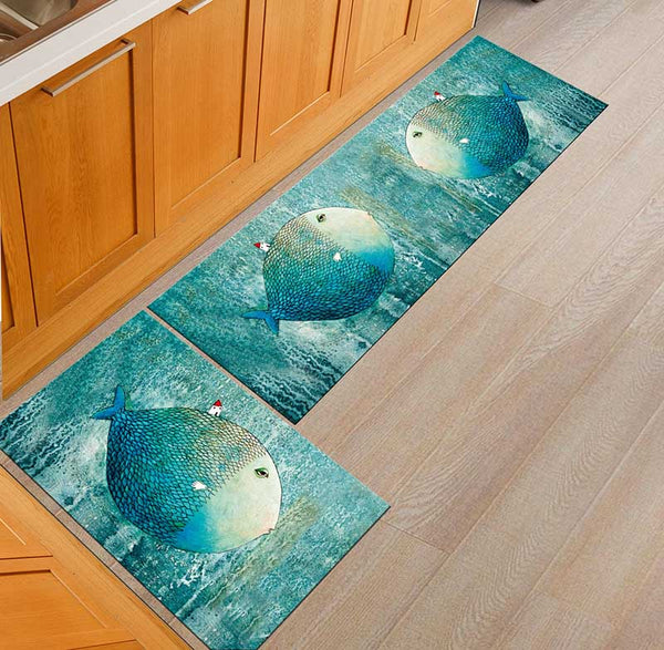 13 / 50x160cm - Kitchen Mat Cheaper Anti-slip Modern Area Rugs Living Room Balcony Bathroom Printed Carpet Doormat Hallway Geometric Bath Mat
