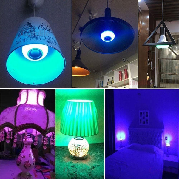[variant_title] - RGB Remote Control Bluetooth Music Light Bulb Led Smart Light Bulb Wifi Colorful Music Light Bulb Stage Light Smart Home