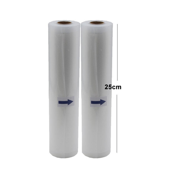 25cm2pcs - 5 Rolls/Lot Kitchen Food Vacuum Bag Storage Bags For Vacuum Sealer Vacuum Packaging Rolls 12/15/20/25/28cm*500cm