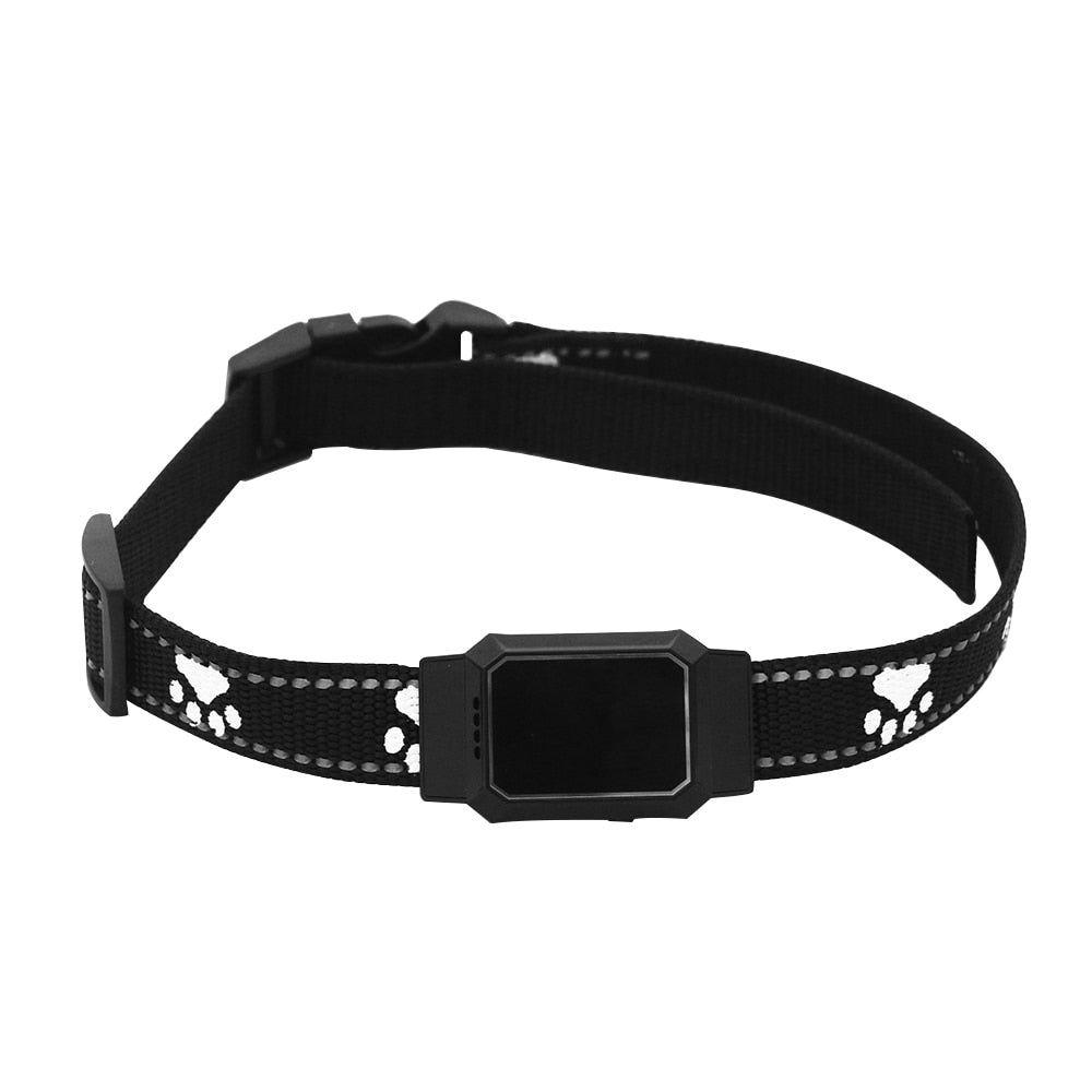 Black - Smart GPS Tracker Collar For Pet Dogs Cats Tracking Locator GSM WiFi LBS Real-time APP Tracking Alarm Device Anti-Lost Geofence